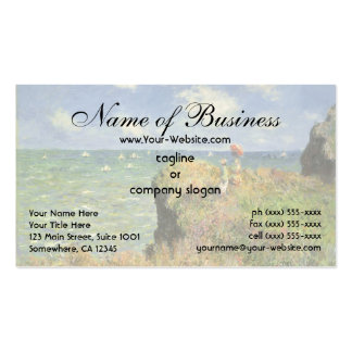 Cliff Walk at Pourville by Claude Monet Double-Sided Standard Business Cards (Pack Of 100)