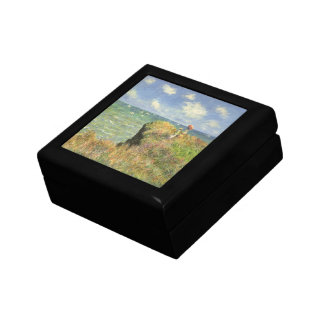 Cliff Walk at Pourville by Claude Monet Jewelry Box
