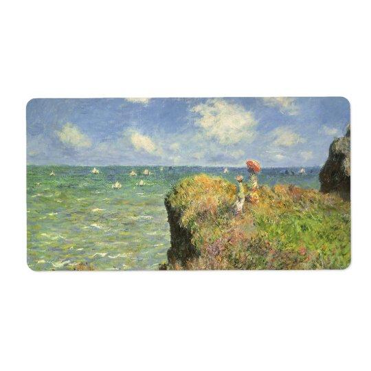 Cliff Walk at Pourville by Claude Monet Label