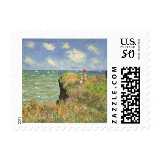 Cliff Walk at Pourville by Claude Monet Postage