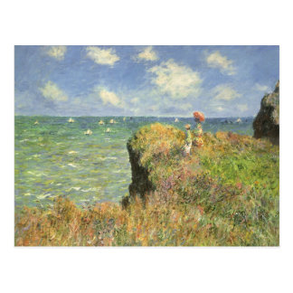 Cliff Walk at Pourville by Claude Monet Postcard