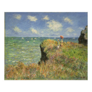 Cliff Walk at Pourville by Claude Monet Poster