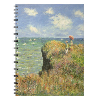 Cliff Walk at Pourville by Claude Monet Spiral Notebook