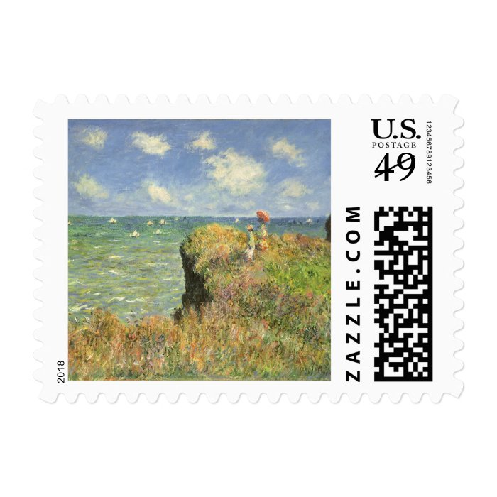 Cliff Walk at Pourville by Claude Monet Stamp