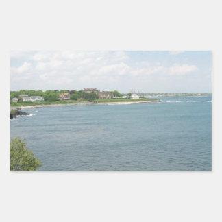Cliff Walk Newport Rhode Island Rectangular Sticker