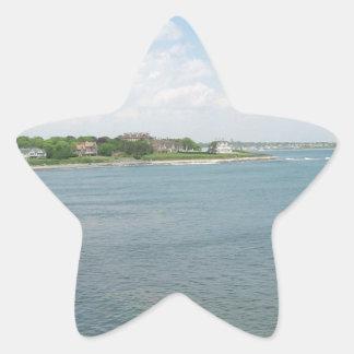 Cliff Walk Newport Rhode Island Star Sticker