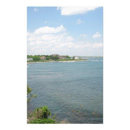 Cliff Walk Newport Rhode Island Personalized Stationery