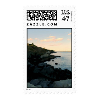 Cliff Walk, Newport, RI Postage