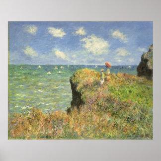 Cliff Walk Pourville, Monet, Vintage Impressionism Print