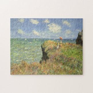 Cliff Walk Pourville, Monet, Vintage Impressionism Jigsaw Puzzles