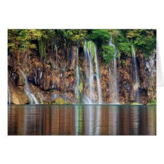Cliff Waterfall Greeting Card