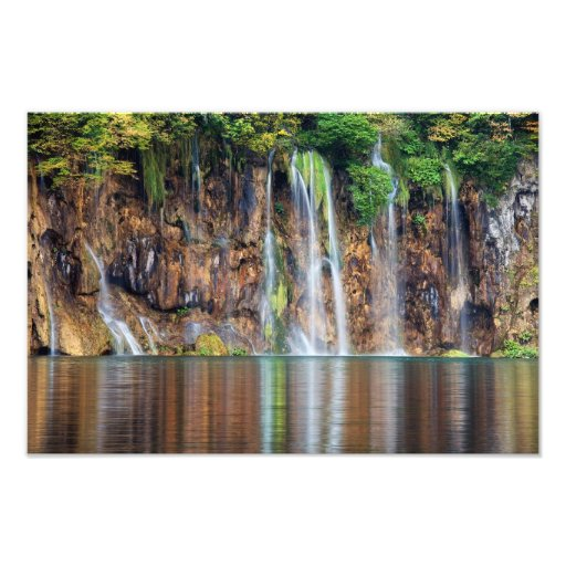 Cliff Waterfall Photo