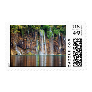 Cliff Waterfall Stamp