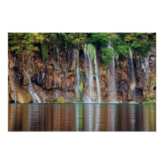 Cliff Waterfall Poster