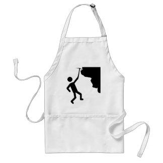 cliffhanger freeclimber climber climbing icon adult apron