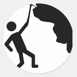 cliffhanger freeclimber climber climbing icon classic round sticker