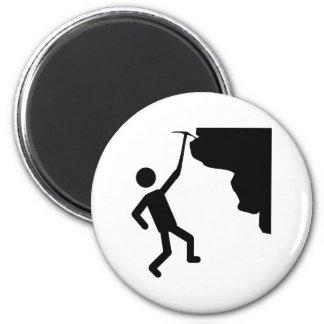 cliffhanger freeclimber climber climbing icon magnet