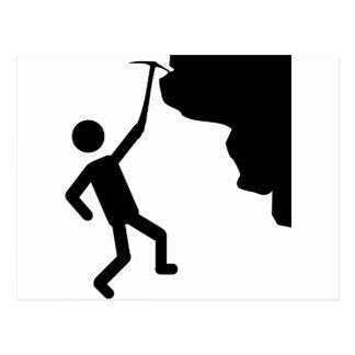 cliffhanger freeclimber climber climbing icon postcard