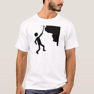 cliffhanger freeclimber climber climbing icon T-Shirt