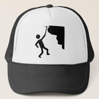 cliffhanger freeclimber climber climbing icon trucker hat