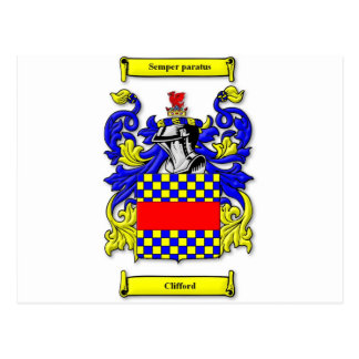 Clifford Coat of Arms Postcard