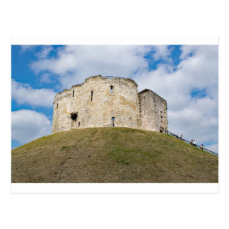 Clifford's Tower in York  historical building. Postcard