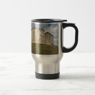 Clifford's Tower in York  historical building. Travel Mug