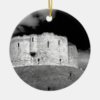 Cliffords Tower York Ceramic Ornament