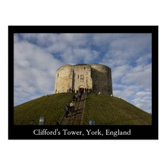 Clifford's Tower, York, England Postcard