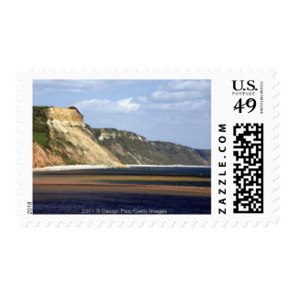 Cliffs Along Jurassic Coast Postage Stamp