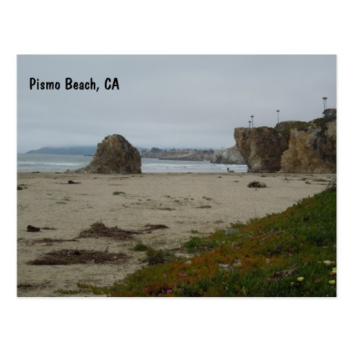 Cliffs Along Pismo Beach Shoreline Postcard