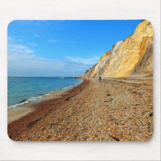 Cliffs and beach at Alum Bay Mouse Pad