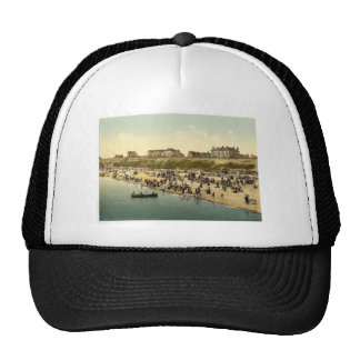 Cliffs and beach, Clacton-on-Sea, England vintage Hats