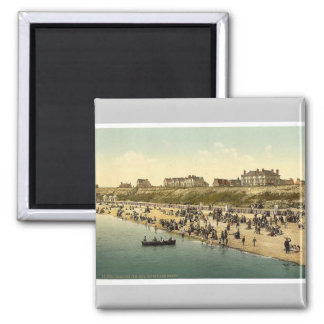 Cliffs and beach, Clacton-on-Sea, England vintage Magnet