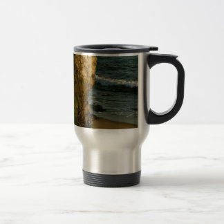 CLIFFS AND CRUSHING WAVES AT THE PACIFIC OCEAN MUGS