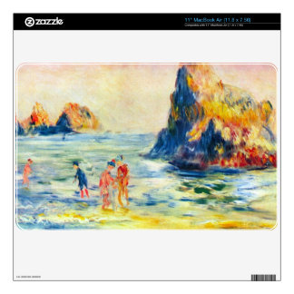 Cliffs at Guernsey by Pierre Renoir Decal For MacBook