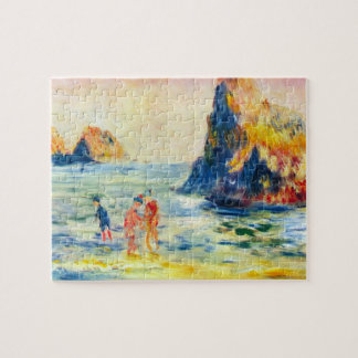 Cliffs at Guernsey by Pierre Renoir Puzzles