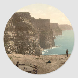 Cliffs at Moher, County Clare Classic Round Sticker