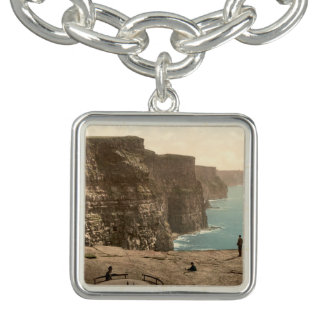 Cliffs at Moher, County Clare, Ireland Charm Bracelet