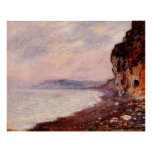 Cliffs at Pourville in the Fog, 1882 Posters