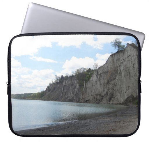 Cliffs at the Scarborough Bluffs Laptop Computer Sleeves