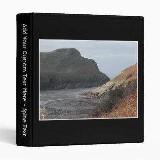 Cliffs at Watermouth, Devon, UK. On Black. 3 Ring Binder