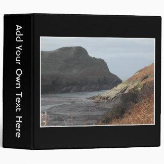 Cliffs at Watermouth, Devon, UK. On Black. Binder