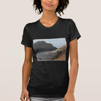 Cliffs at Watermouth, Devon, UK. On Black. T-Shirt