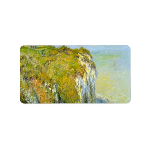 Cliffs by Claude Monet Personalized Address Labels