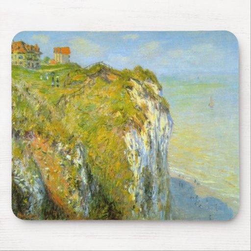 Cliffs by Claude Monet Mouse Pad