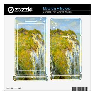 Cliffs by Claude Monet Motorola Milestone Skins