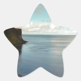 Cliffs by the Ocean Star Sticker