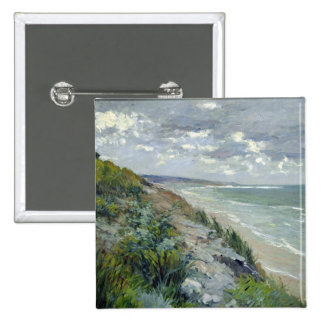 Cliffs by the sea at Trouville 2 Inch Square Button