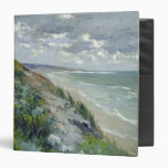 Cliffs by the sea at Trouville 3 Ring Binder